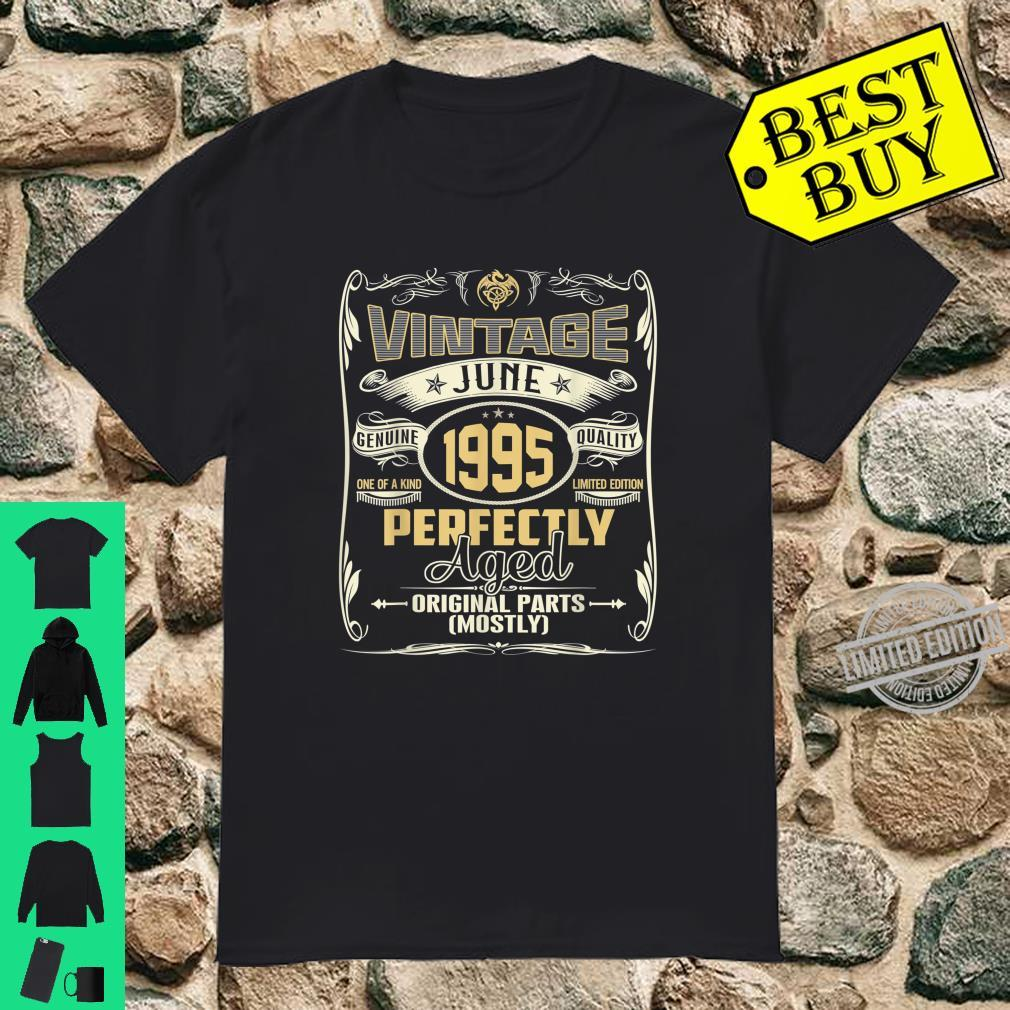 25 Years Old Born in June 1995 Vintage 25th Birthday Shirt