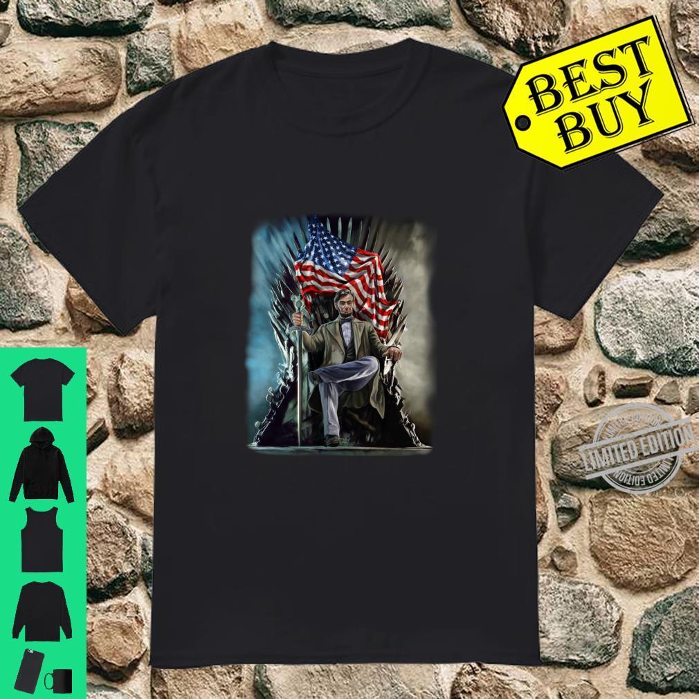 Abraham Lincoln sitzt auf dem Thron der Vereinigten Staaten Langarmshirt Shirt