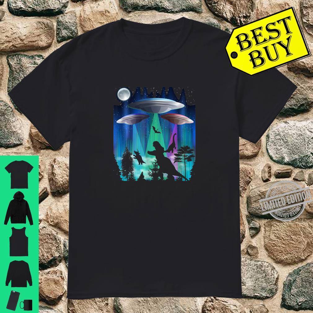 Alien UFO TRex Abduction Martians Dinosaur Shirt
