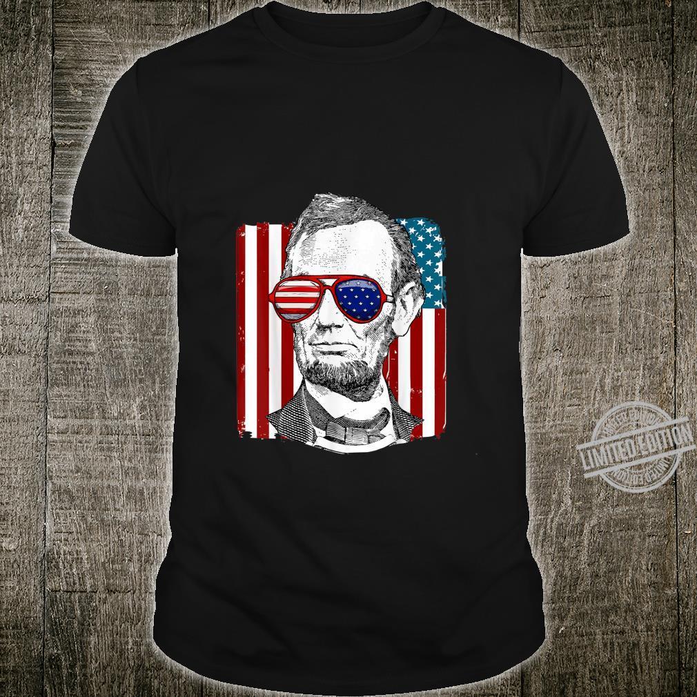 America USA Abe Lincoln 4th of July Boys Shirt