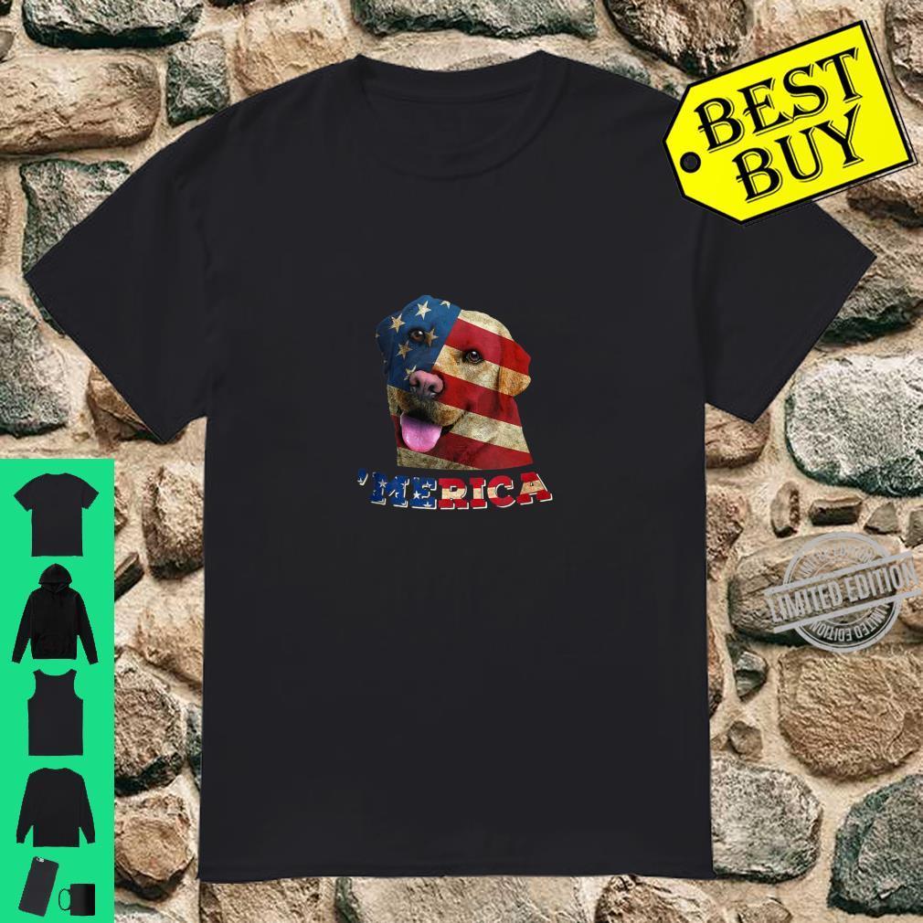 American Flag Labrador Dog 4th of July Dog Shirt