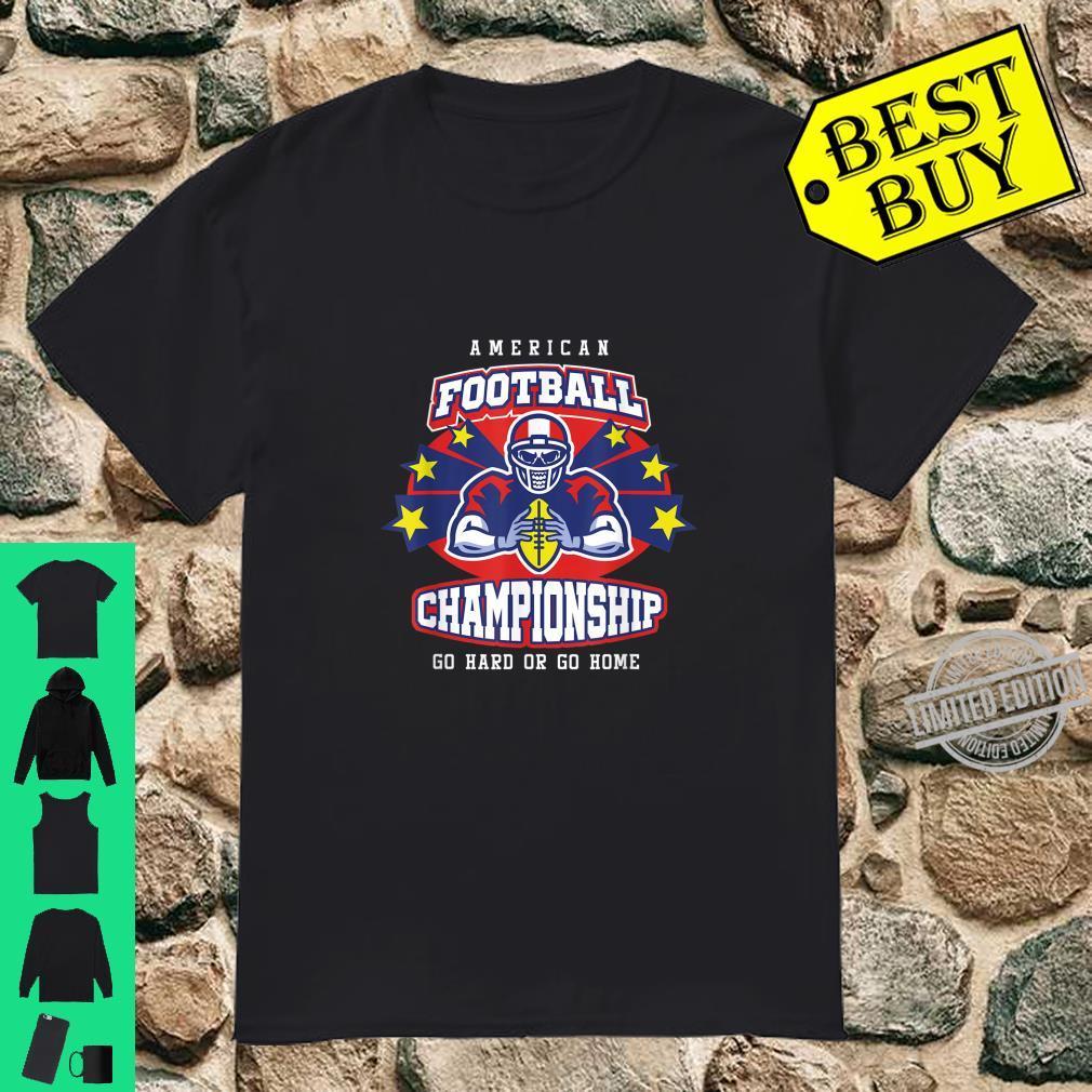 American Football Rugby Sports Tournament Hard Home Fan Shirt