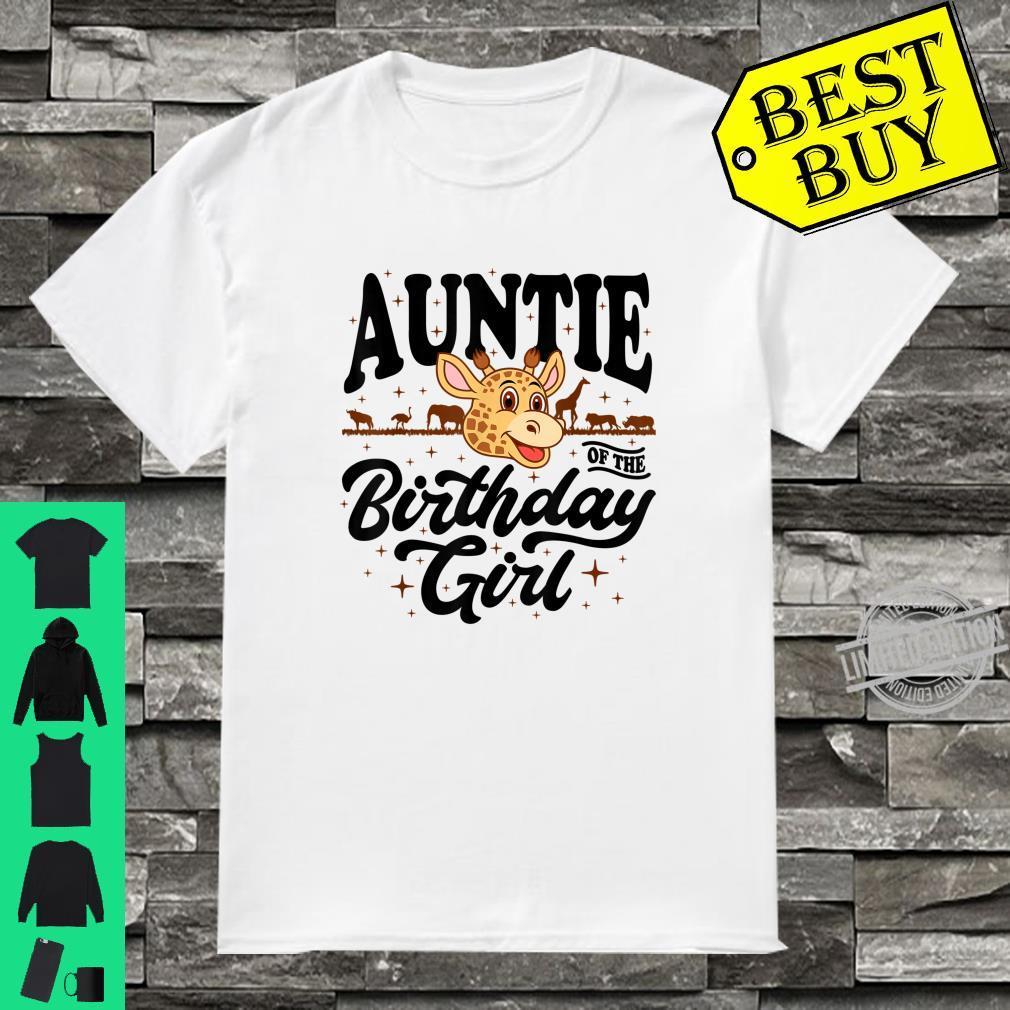 Auntie of the Birthday Girl cute jungle safari animals Shirt