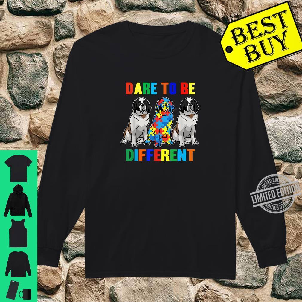 Autism Awareness Bernard Dog Shirt long sleeved
