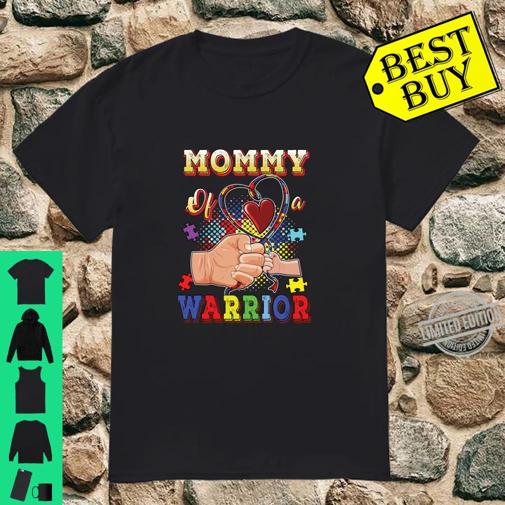 Autism Awareness Mom Mommy Of A Warrior Autistic Son Shirt