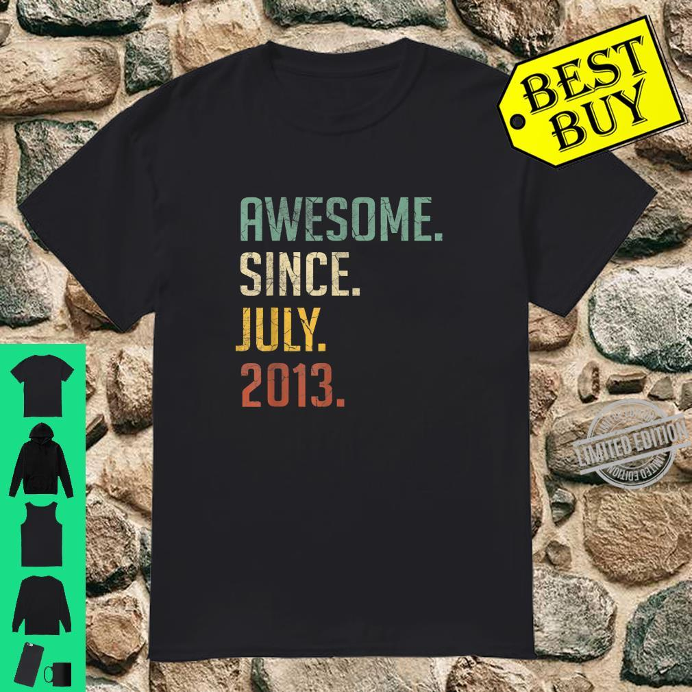 Awesome Since July 2013 7 Years Old Birthday Shirt