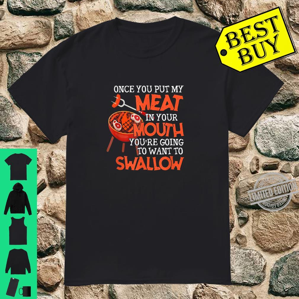 BBQ Barbecue Dad Grill Master Dad Father's Day Xmas Shirt