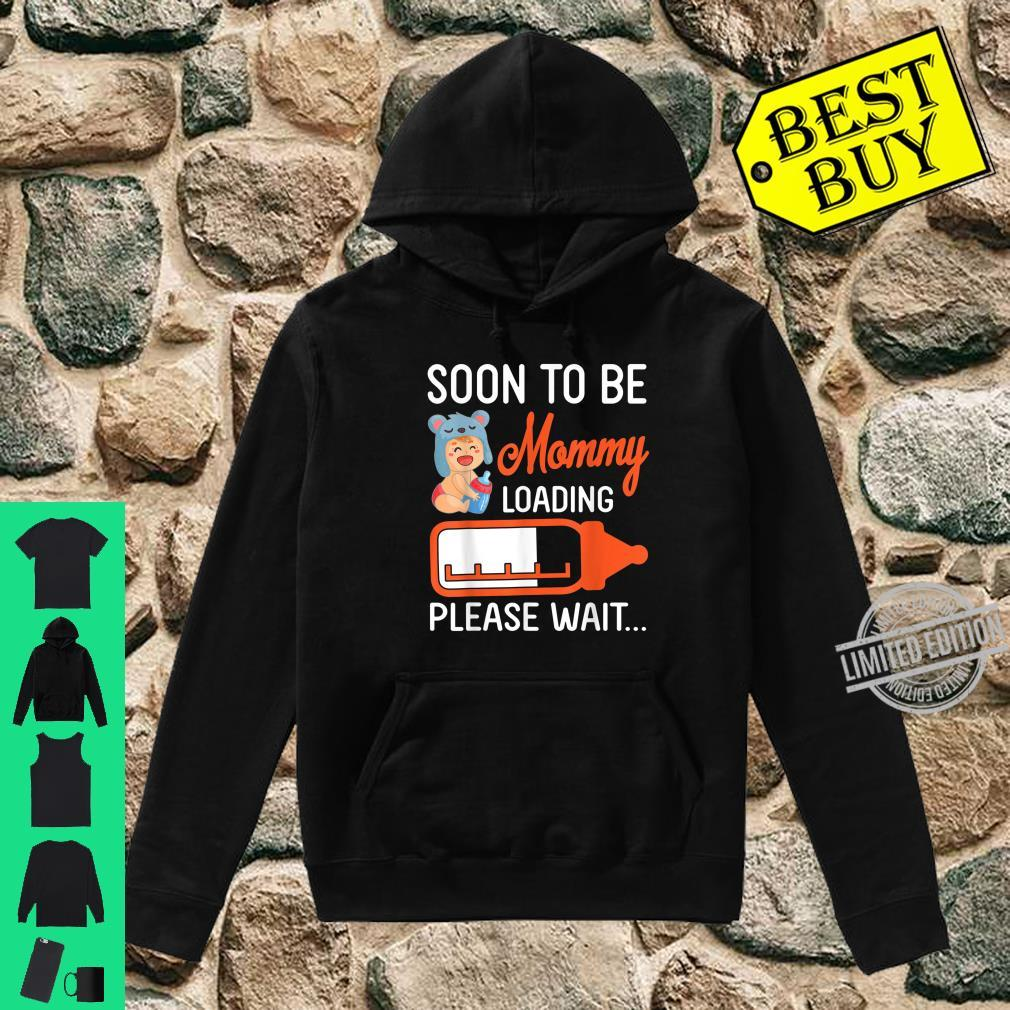 Baby And Milk Soon To Be Mommy Loading Please Wait Happy Day Shirt hoodie