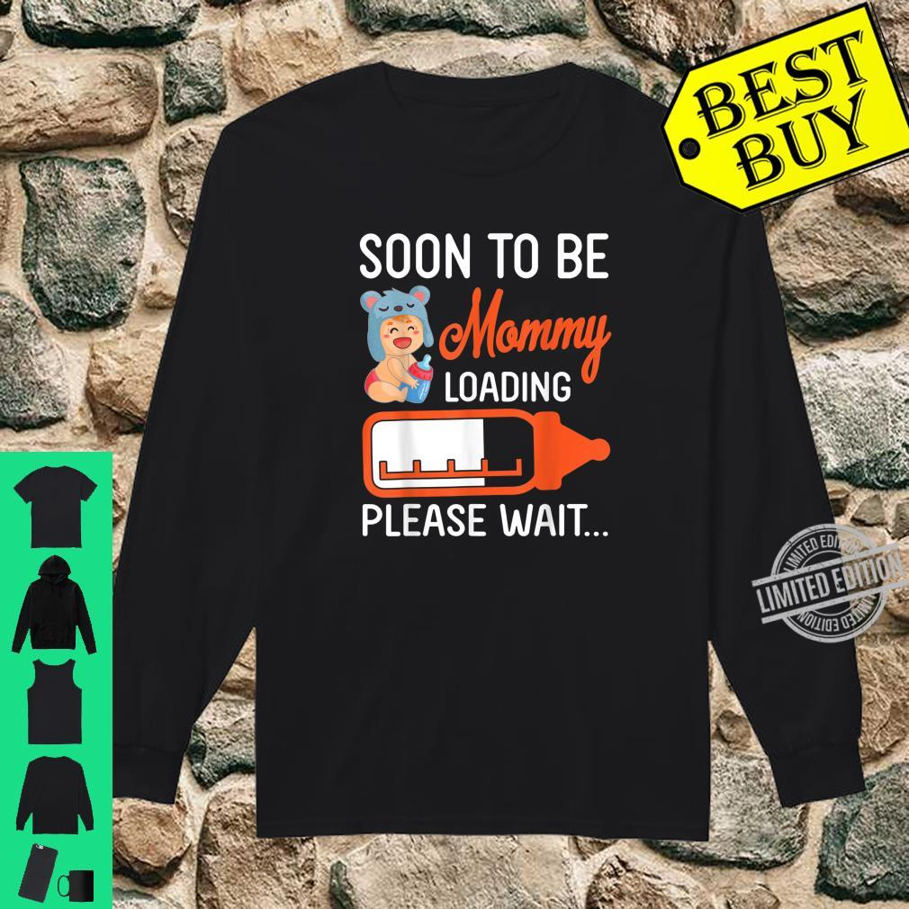 Baby And Milk Soon To Be Mommy Loading Please Wait Happy Day Shirt long sleeved