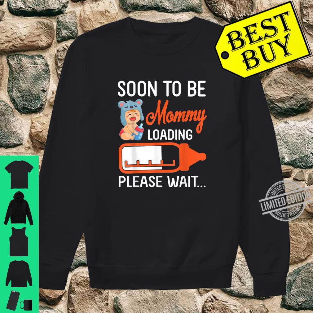 Baby And Milk Soon To Be Mommy Loading Please Wait Happy Day Shirt sweater