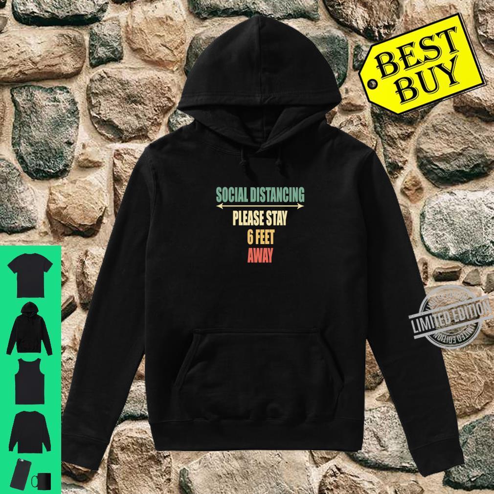 Back of Shirt Design Social Distancing Shirt hoodie