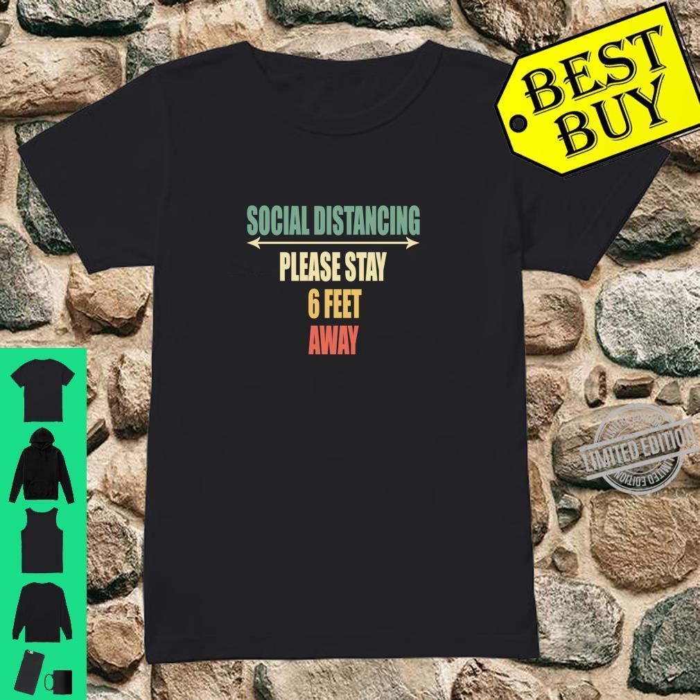 Back of Shirt Design Social Distancing Shirt ladies tee
