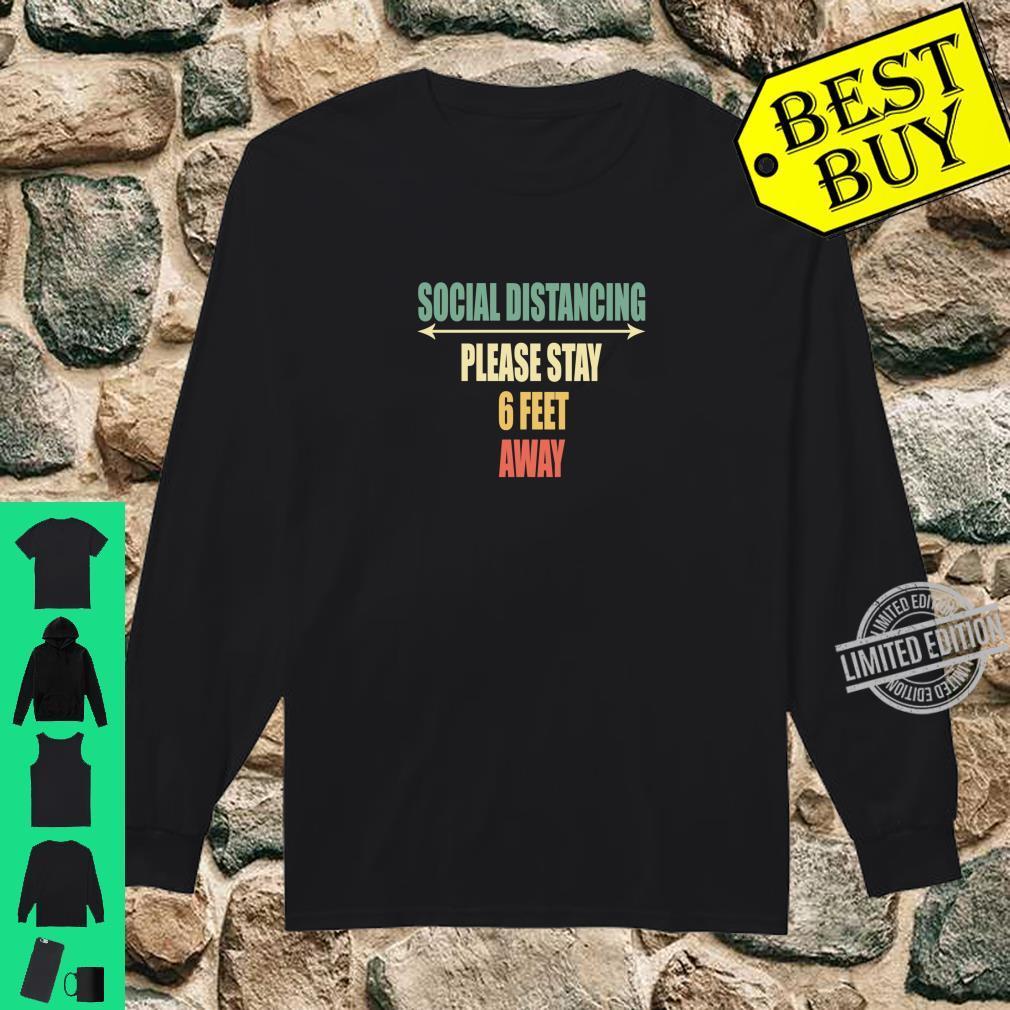 Back of Shirt Design Social Distancing Shirt long sleeved