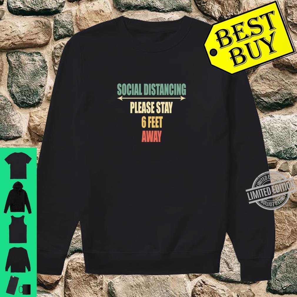 Back of Shirt Design Social Distancing Shirt sweater