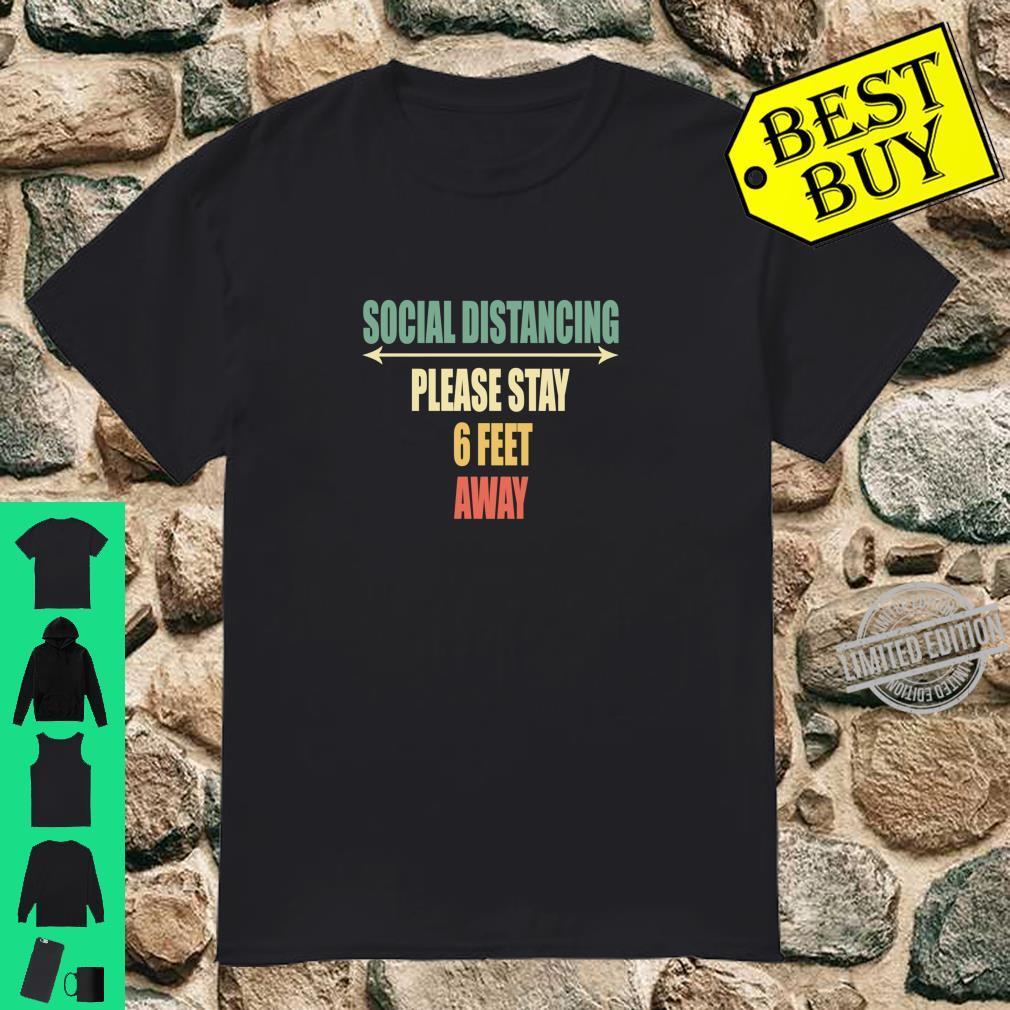 Back of Shirt Design Social Distancing Shirt