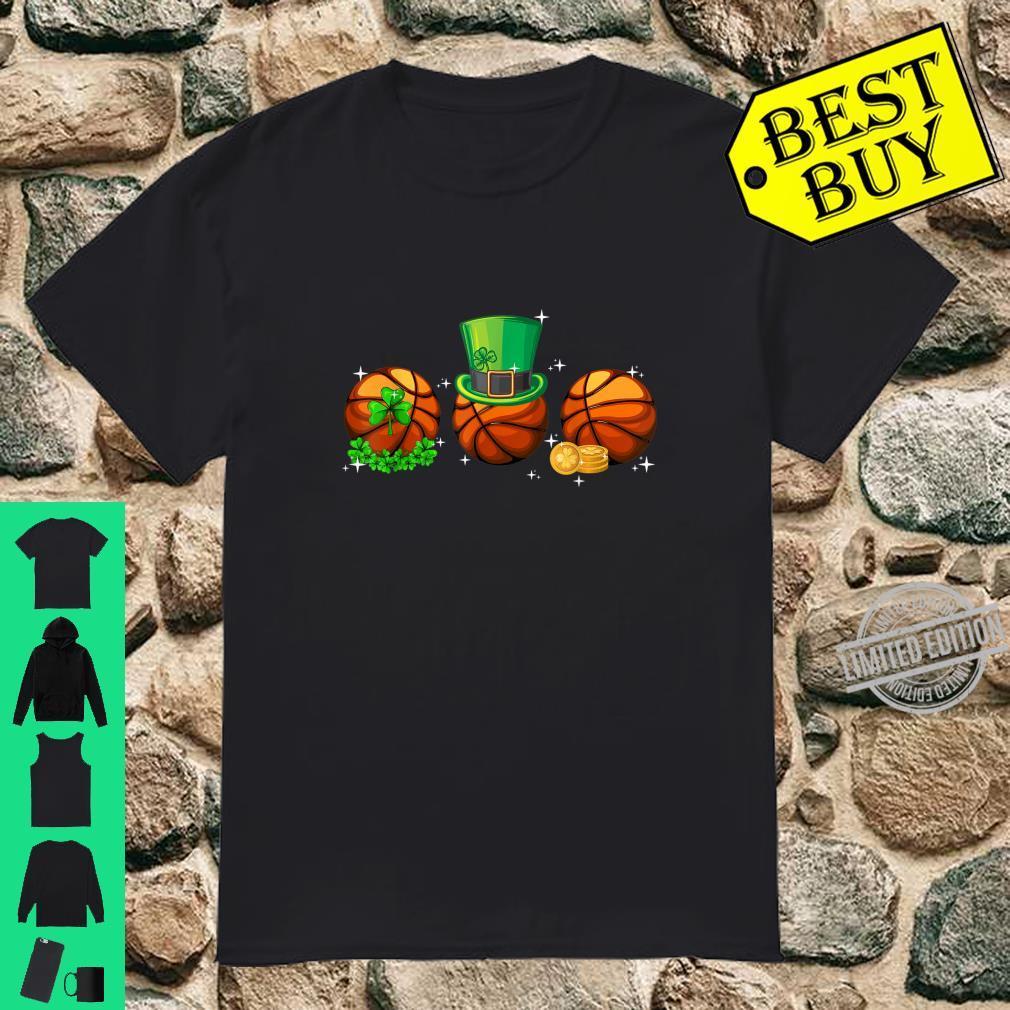 Basketball With Leprechaun Hat St Patricks Day Shirt