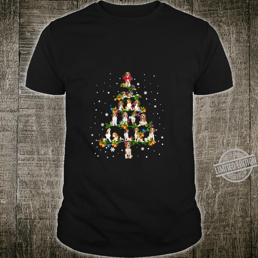Beagle Christmas Tree Santa Dog Shirt