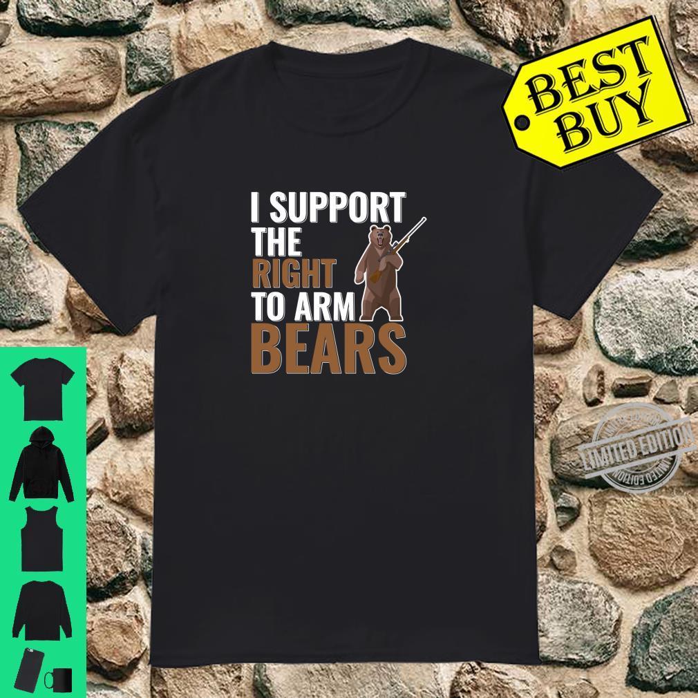 Bear Arms Pun Second Amendment Joke Shirt