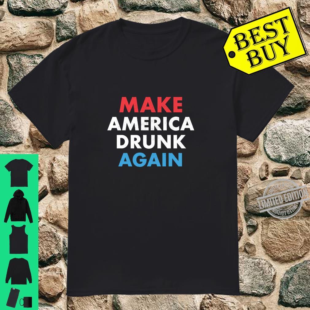 Beer Drinking Drinker Make America Drunk Again July 4th Langarmshirt Shirt