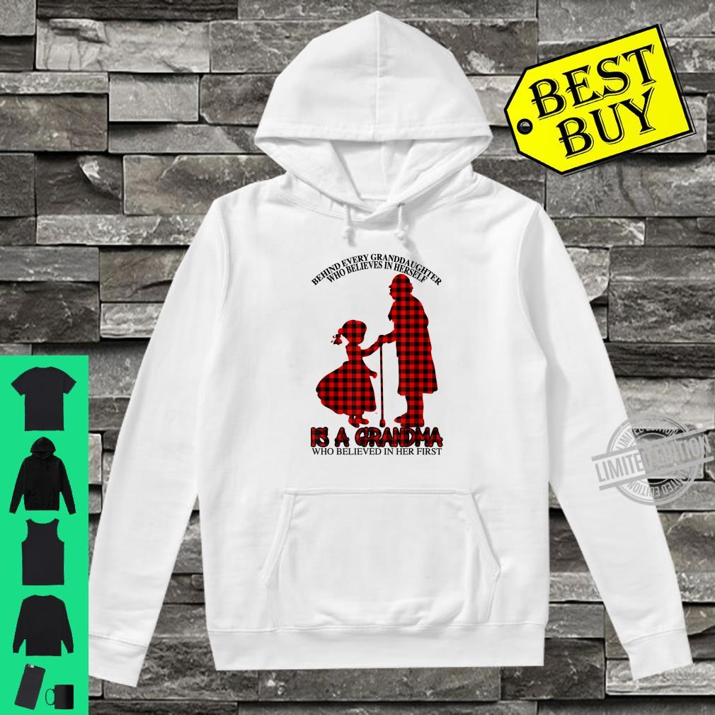 Behind every granddaughter Is a Grandma Red Plaid Mother day Shirt hoodie