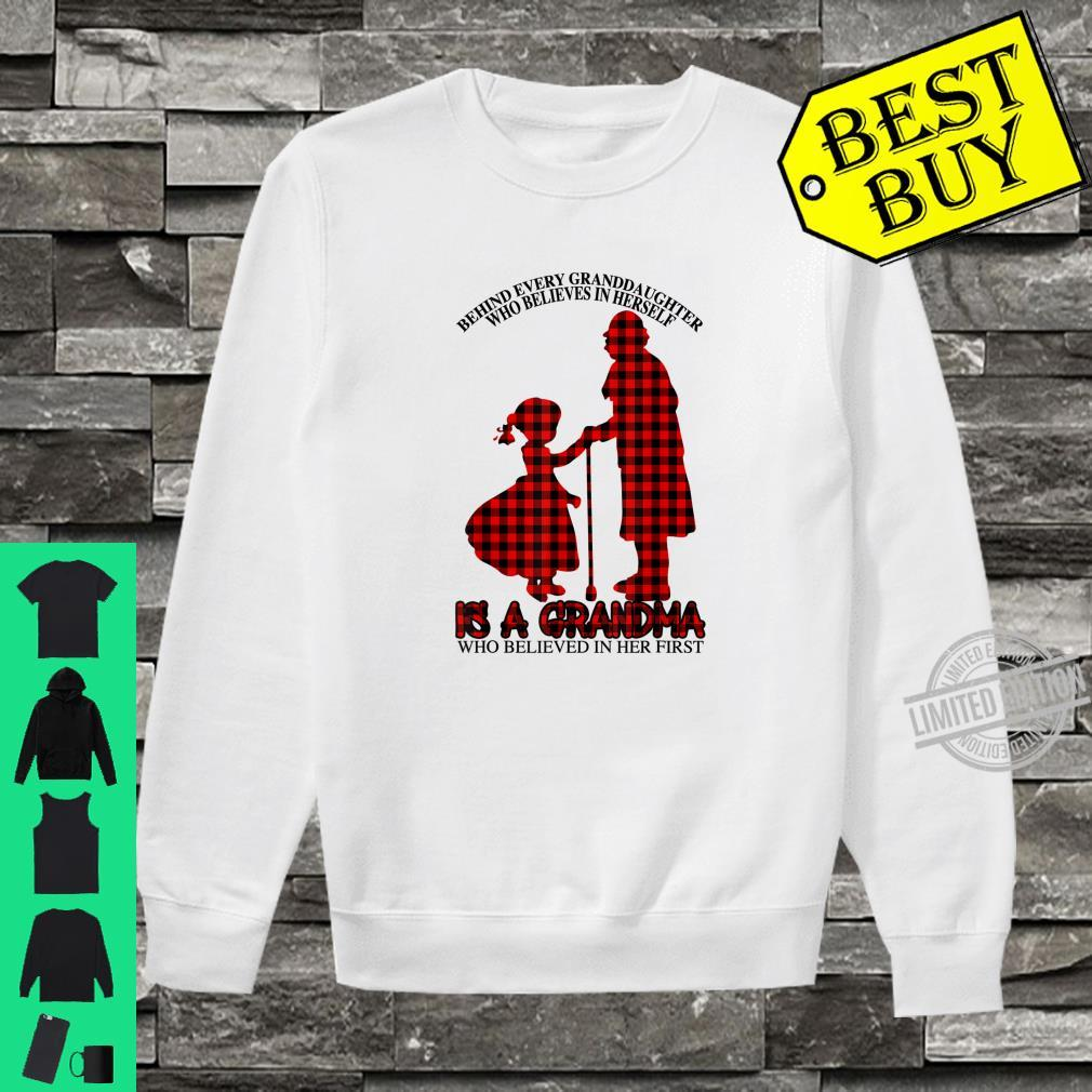 Behind every granddaughter Is a Grandma Red Plaid Mother day Shirt sweater