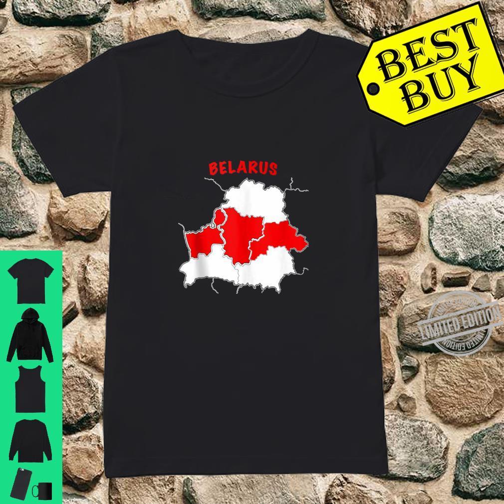 Belarus Free Belarus Pahonia Pagonya Map Flag Support Shirt ladies tee