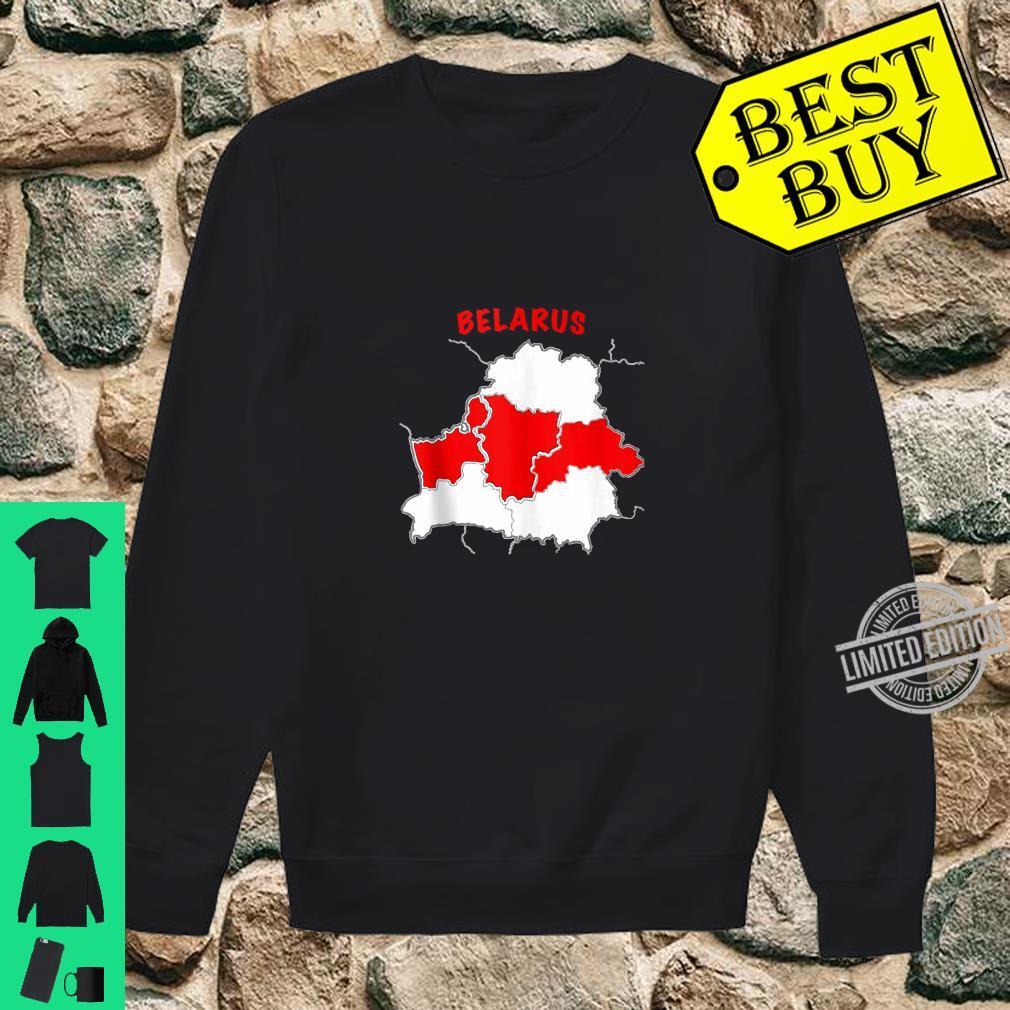 Belarus Free Belarus Pahonia Pagonya Map Flag Support Shirt sweater
