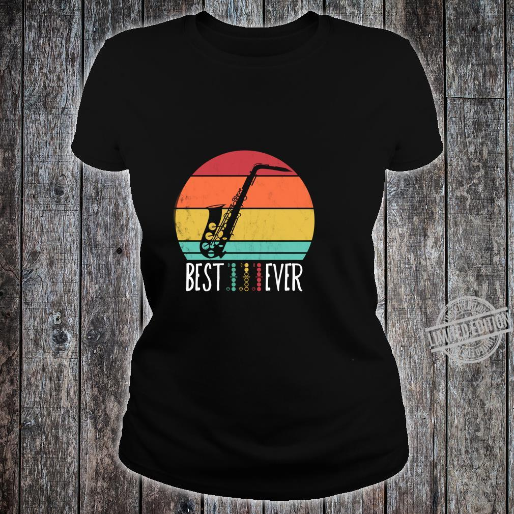 Best Saxophone DAD Ever Music chords Father musician Shirt ladies tee