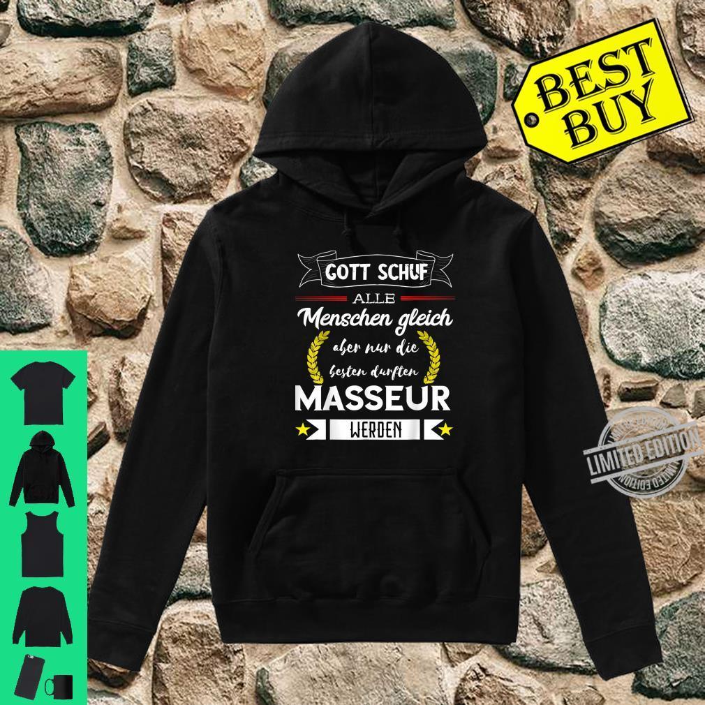 Bester Masseur Massage Therapeut Pyhsios Orthopäde Spruch Shirt hoodie