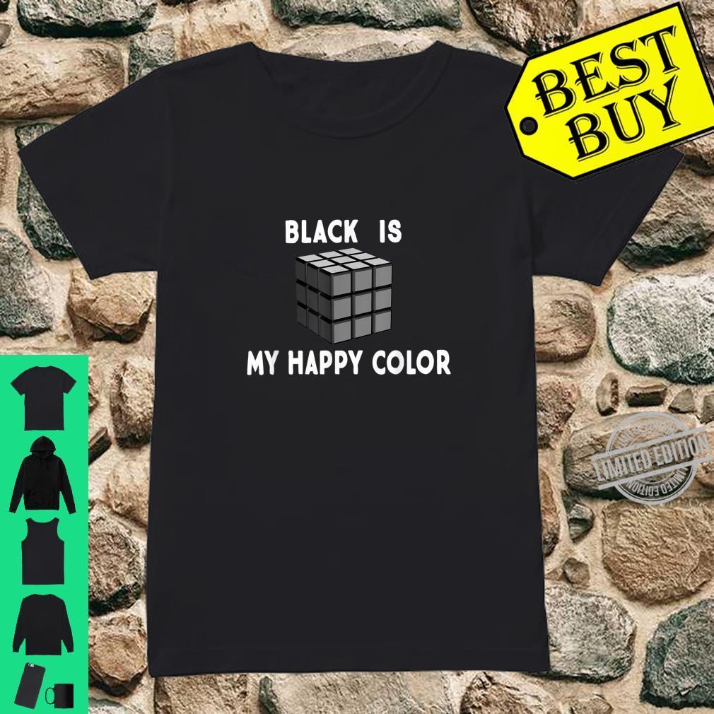 Black is My Happy Color Goth Punk Emo & Shirt ladies tee