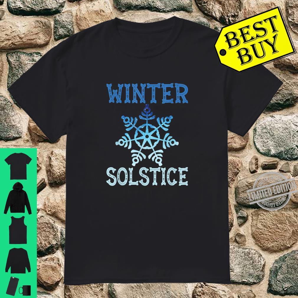 Blue Winter Snowflake Blessed Solstice Yule Cute Shirt