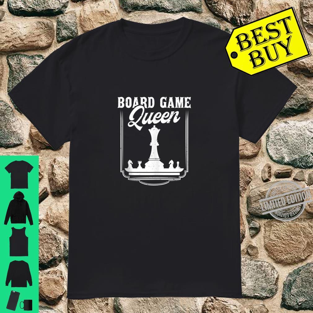 Board Game Queen Gamer Player Shirt