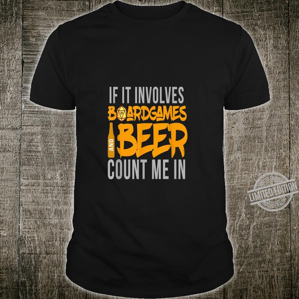 Boardgames And Beer I Board Game Nerd Gaming Roleplay Shirt