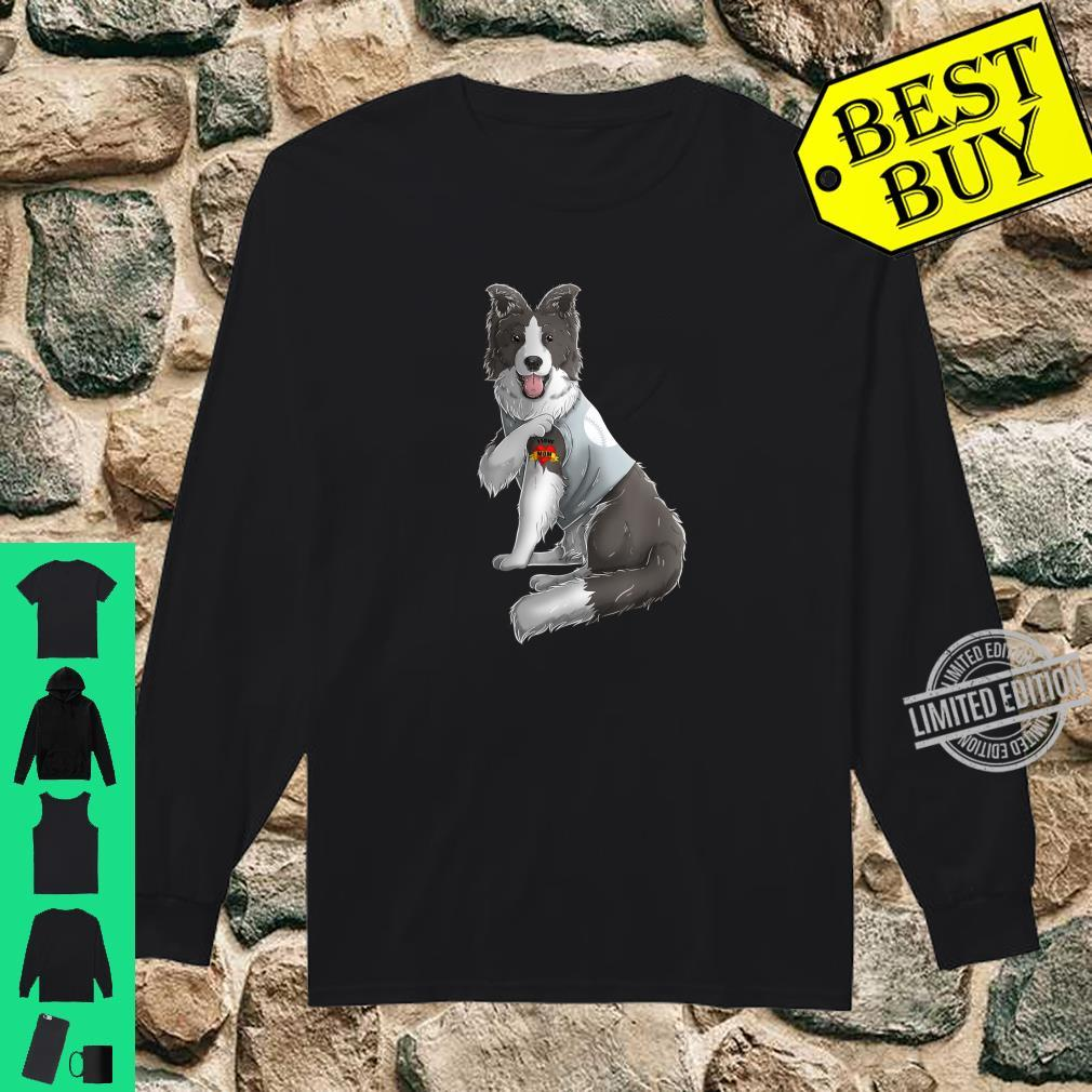 Border Collie I Love Mom Tattoo Dog Mother's Day Shirt long sleeved