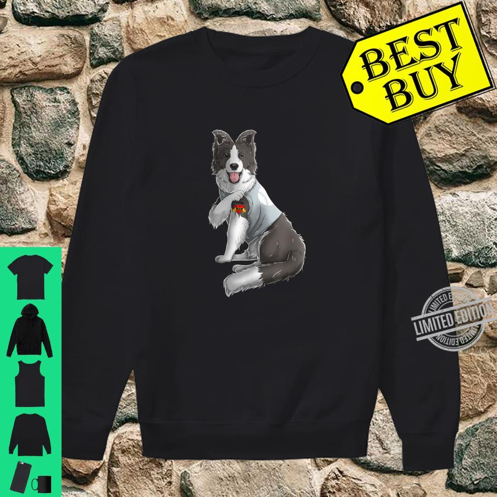 Border Collie I Love Mom Tattoo Dog Mother's Day Shirt sweater