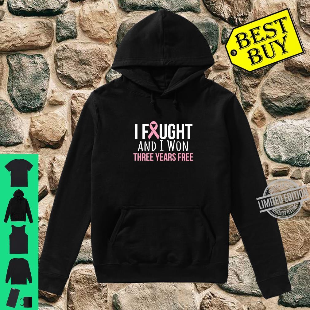 Breast Cancer Three Years Anniversary 3 Years Survivor Pink Shirt hoodie