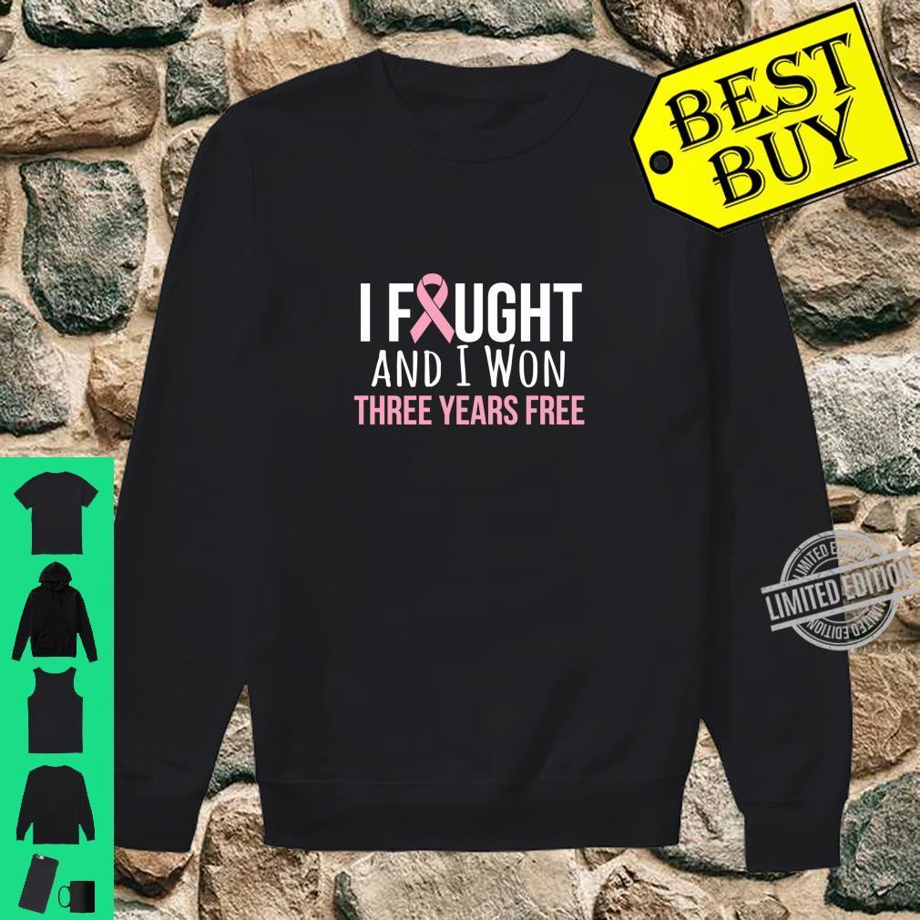 Breast Cancer Three Years Anniversary 3 Years Survivor Pink Shirt sweater