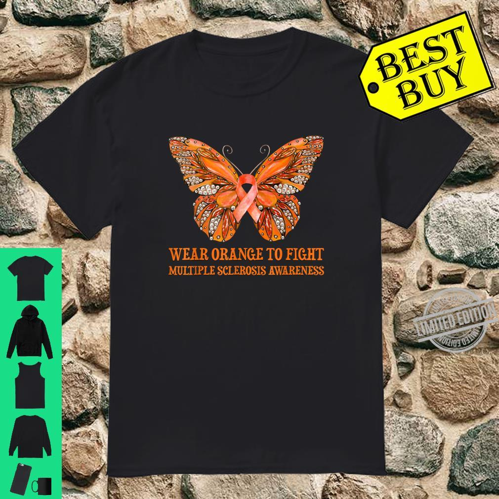 Butterfly Wear Orange To Fight Multiple Sclerosis Awareness Shirt