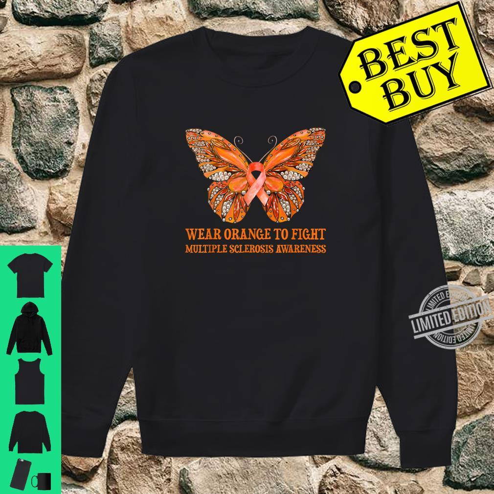 Butterfly Wear Orange To Fight Multiple Sclerosis Awareness Shirt sweater