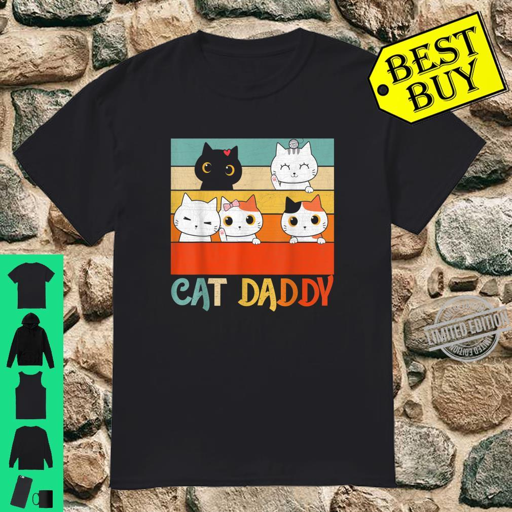 Cat Daddy Vintage Kitten Cat Owners Fathers day 2020 Shirt