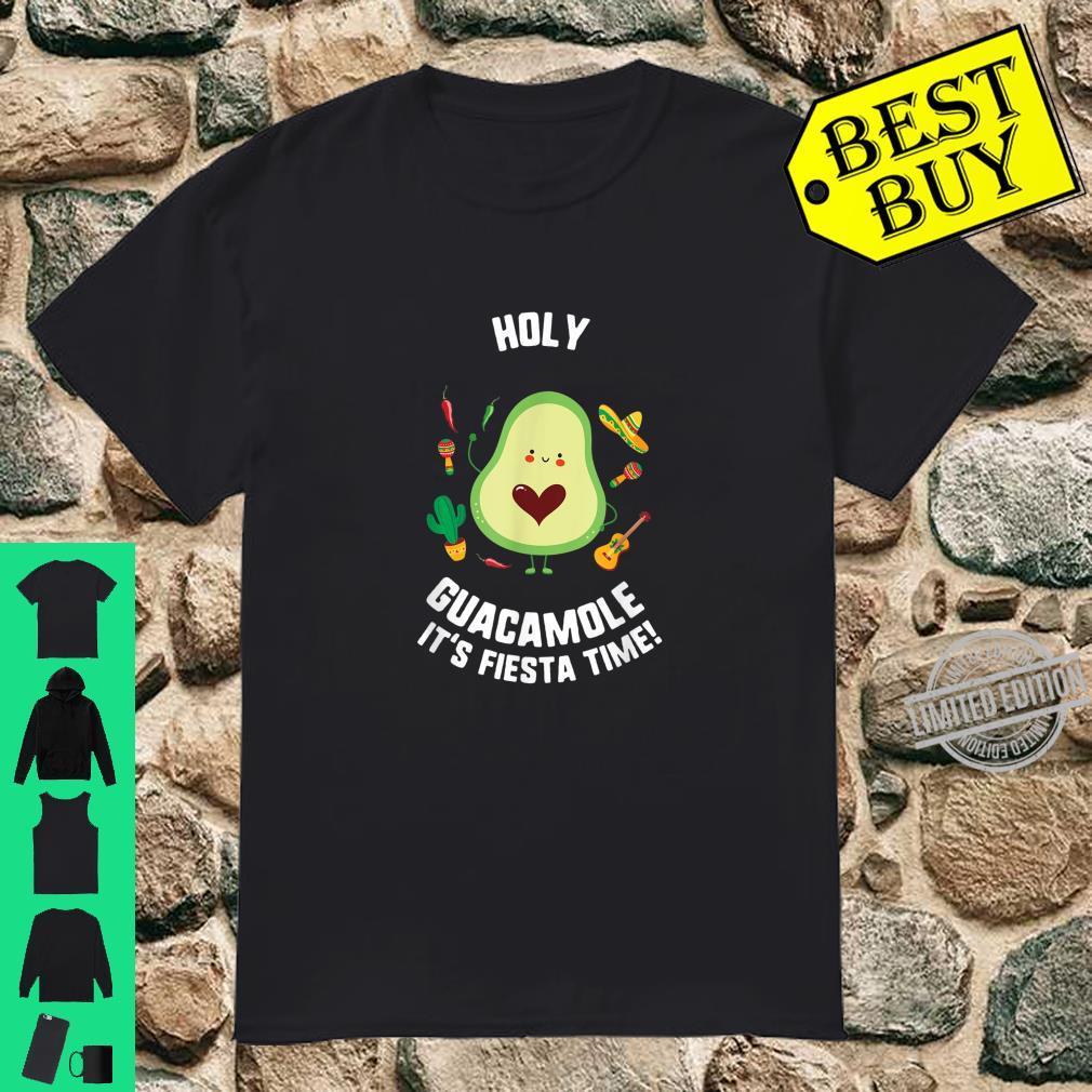 Cinco De Mayo Holy Guacamole It's Fiesta Time Avocado Shirt