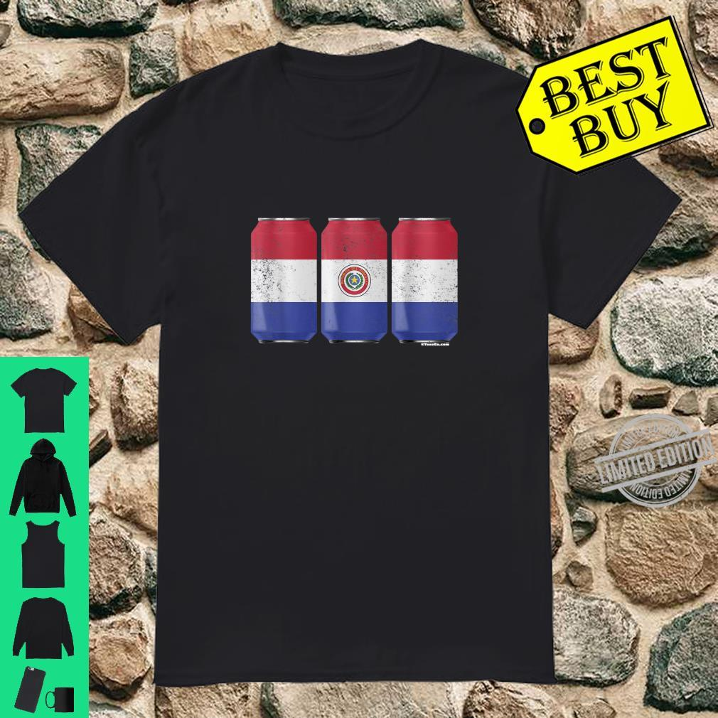 Cool Beer Cans Paraguay Flag Shirt