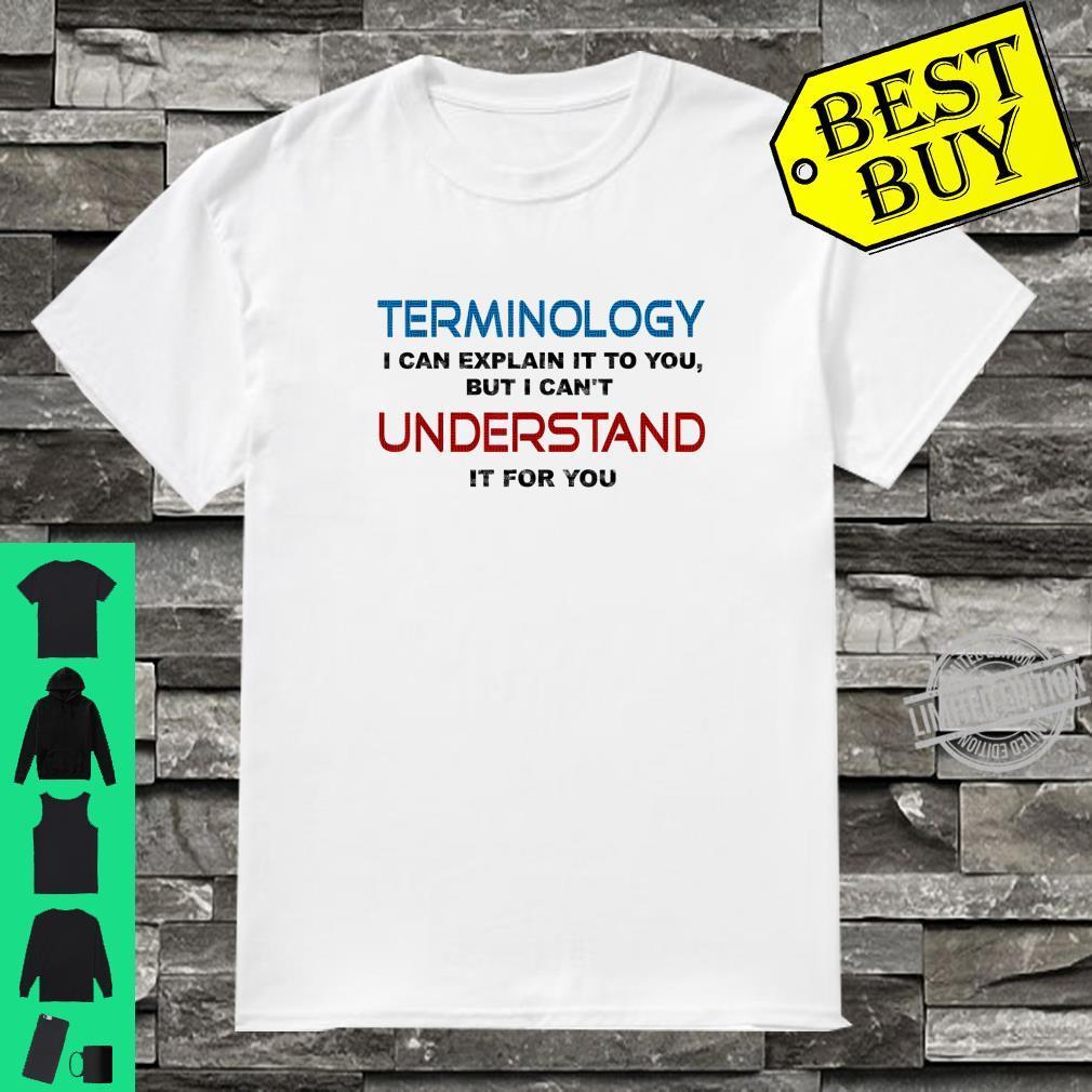 Cool Terminology Vocabulary Language Teacher Shirt