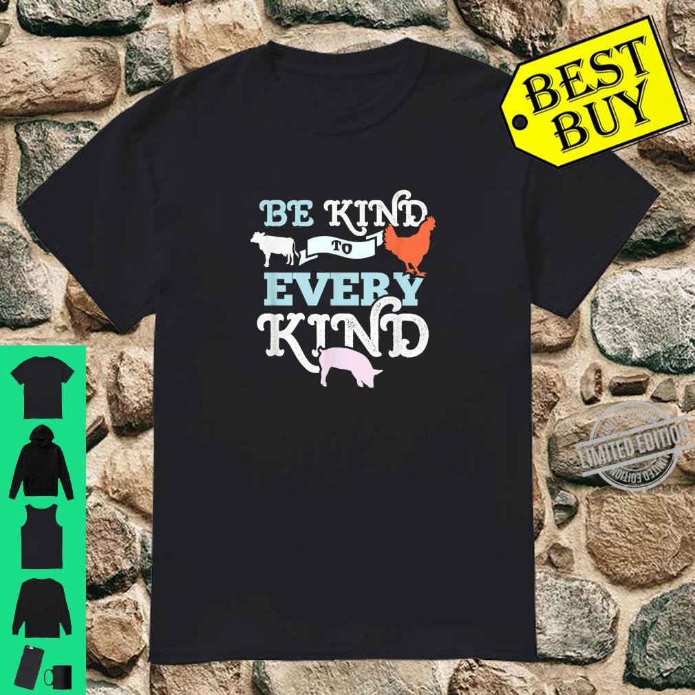 Cow Chicken Pig Support Kindness Animal Equality Vegan Shirt