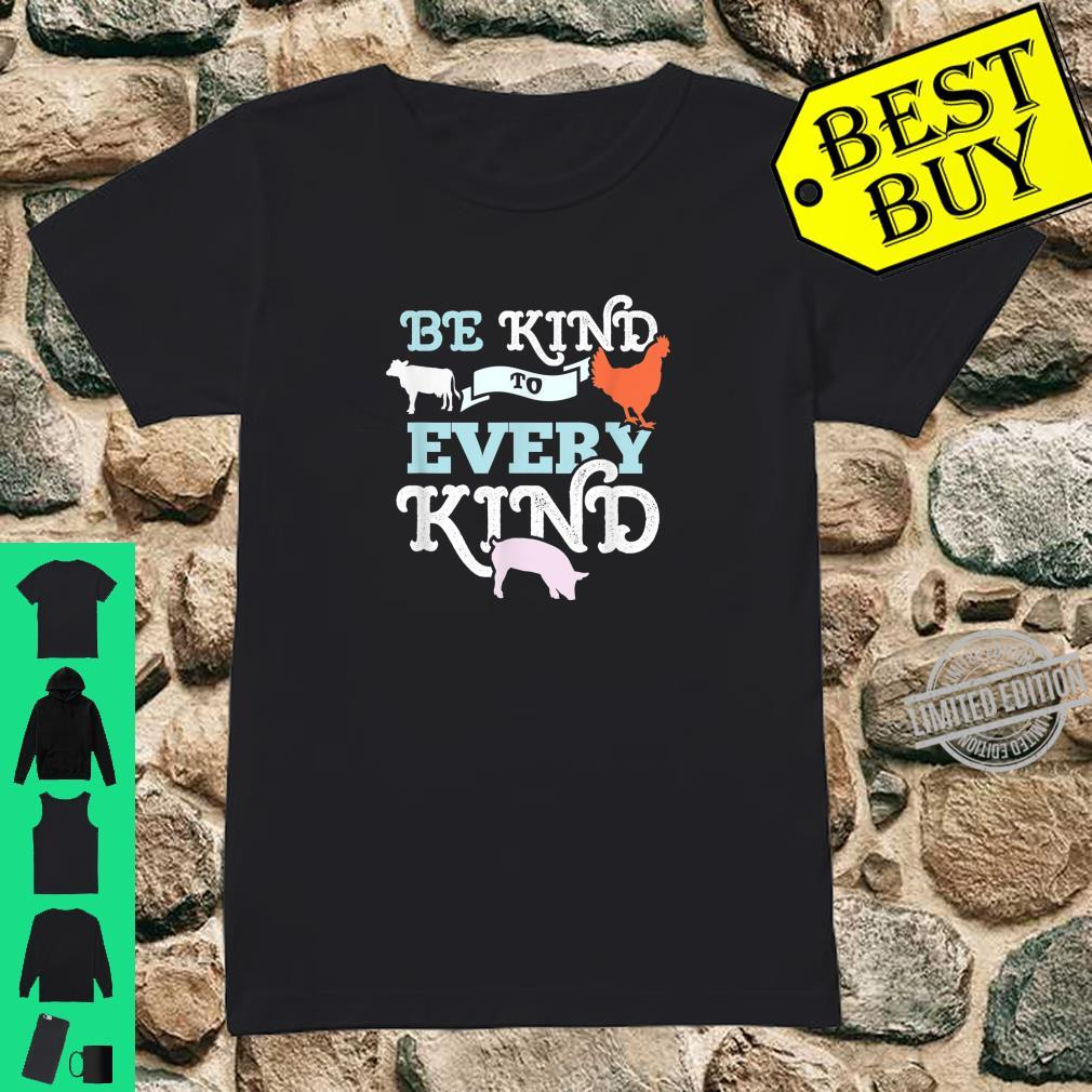 Cow Chicken Pig Support Kindness Animal Equality Vegan Shirt ladies tee