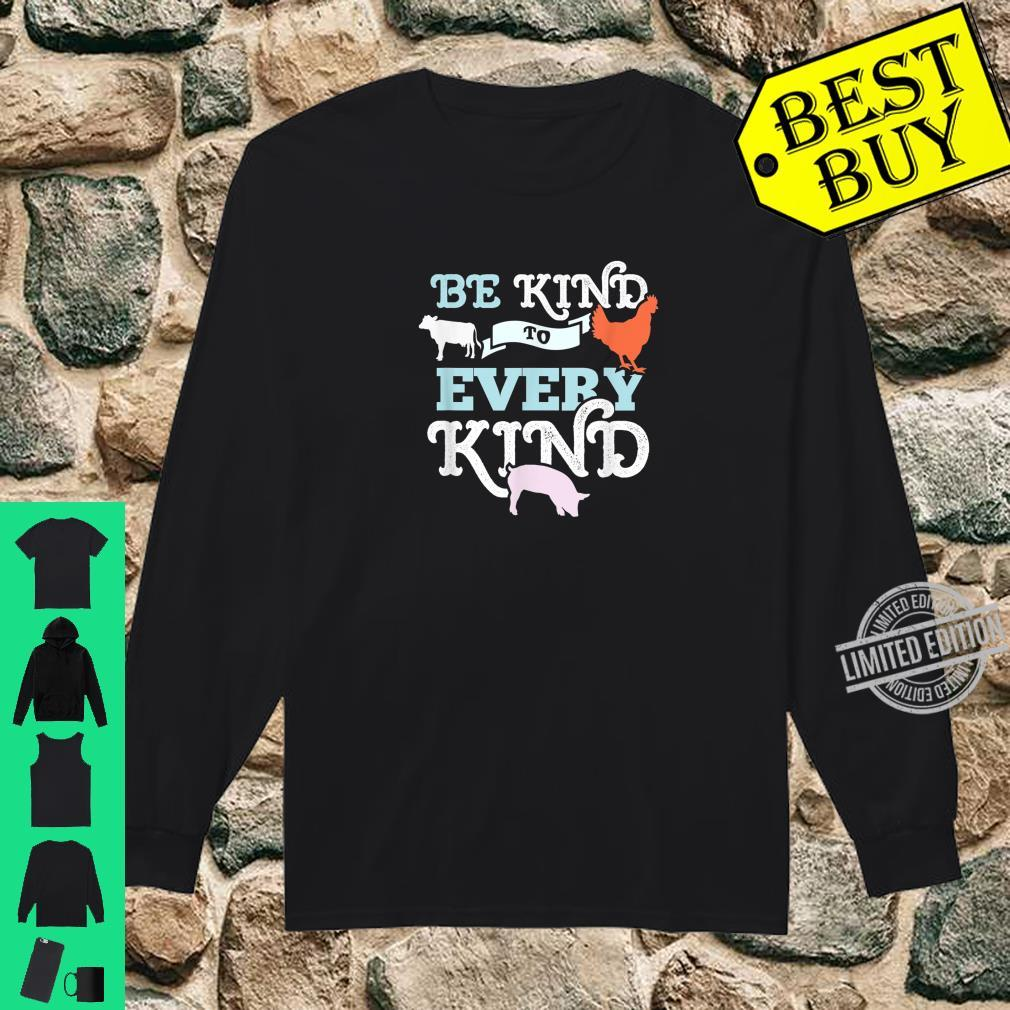 Cow Chicken Pig Support Kindness Animal Equality Vegan Shirt long sleeved