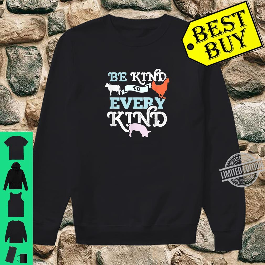 Cow Chicken Pig Support Kindness Animal Equality Vegan Shirt sweater