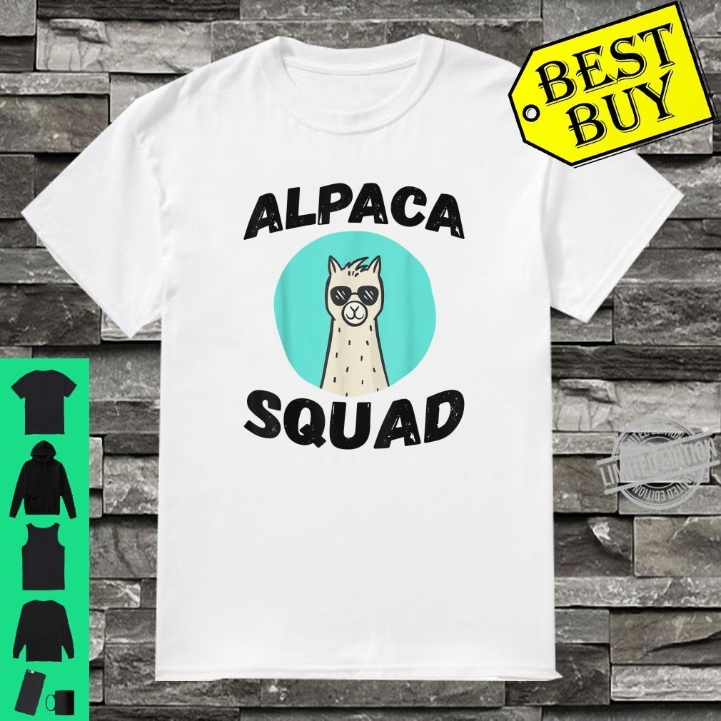 Cute Alpaca Squad Proud alpaca with glasses for lamas Shirt