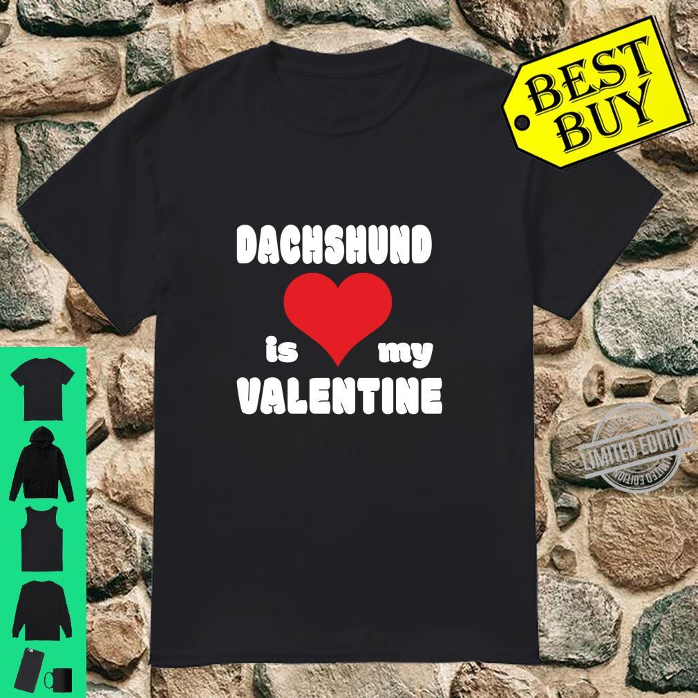 Dachshund For Dogs Love Heart Valentine's Day Shirt