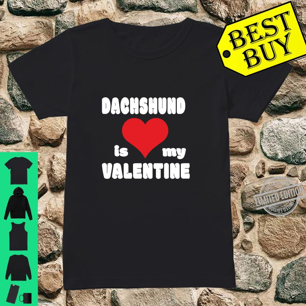 Dachshund For Dogs Love Heart Valentine's Day Shirt ladies tee